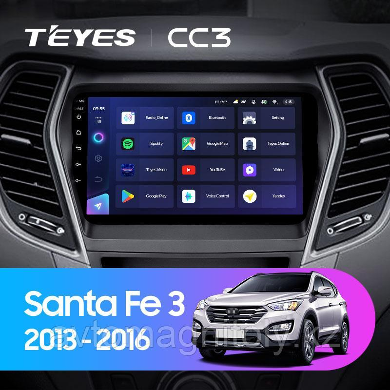 Автомагнитола Teyes CC3 3GB/32GB для Hyundai Santa Fe 3 2013-2016