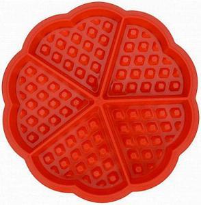 Силиконовая форма для выпечки вафель Сердце, фото 2
