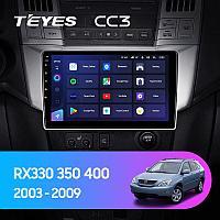 Автомагнитола Teyes CC3 3GB/32GB для Lexus RX330/350/400 2003-2009