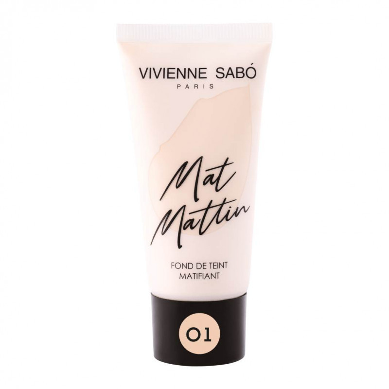 Vivienne Sabo Матирующий тональный крем Mat Mattin, тон 01 светло-бежевый