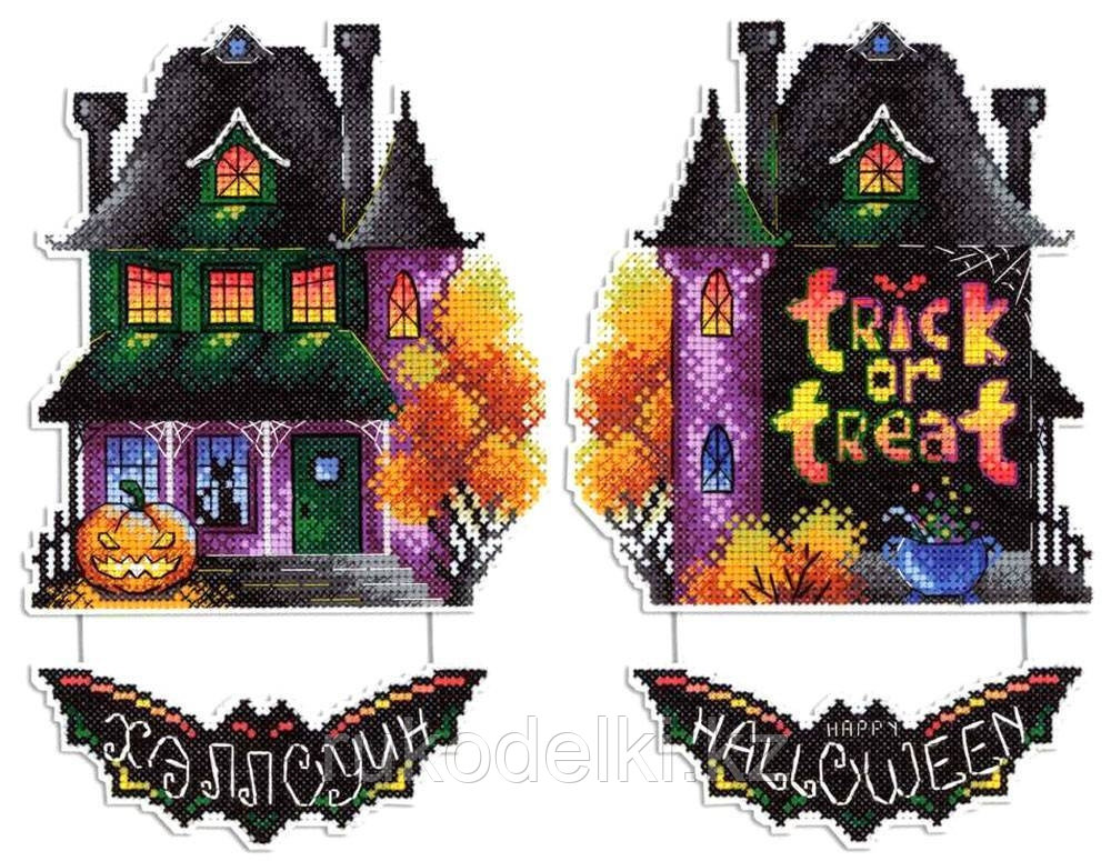 """Набор для вышивания крестом """"Дом с призраками"""""""