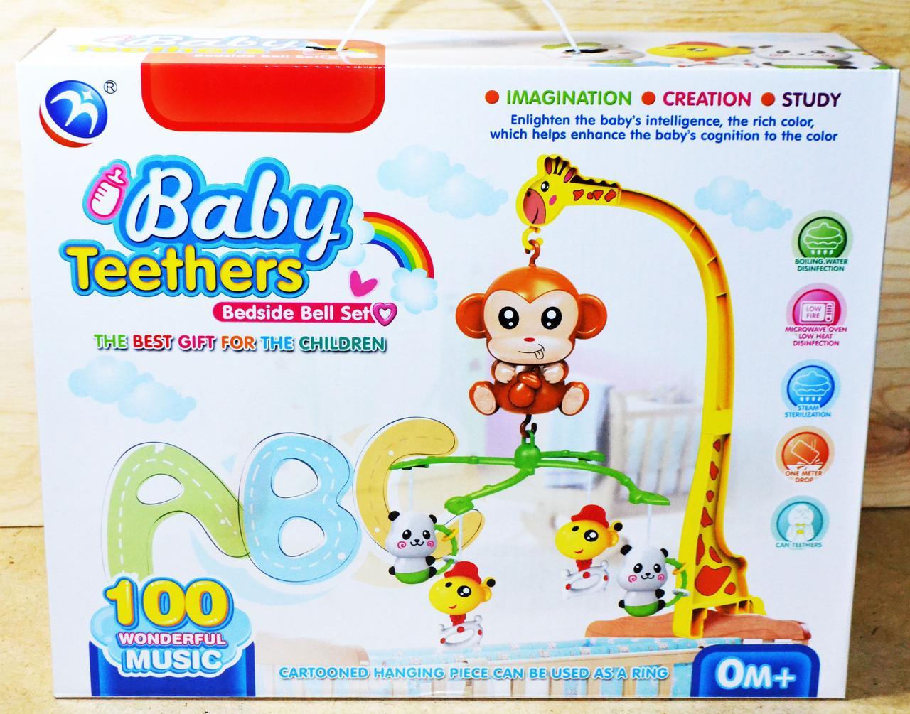 """BM5016-1 мобиль на кроватку """"Обезьянка"""" Baby Teethers 38*30cv"""
