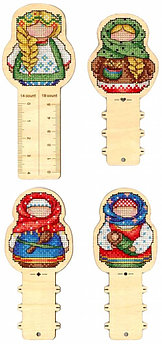 """Набор для вышивания крестом """"Русские обереги. Линейка + 3 бобины"""""""