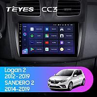 Автомагнитола Teyes CC3 3GB/32GB для Renault Sandero 2014-2019