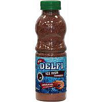 Прикормка зимняя DELFI ICE FISH Tornado (универсальная; креветка, красная + БЛЕСТКИ, 500 мл) tr-218630
