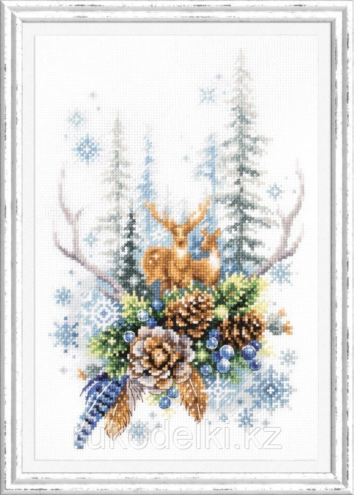 """Набор для вышивания крестом """"Дух зимнего леса"""""""