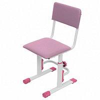 Стул для школьника регулируемый Polini City / Polini Smart S, (белый-розовый)