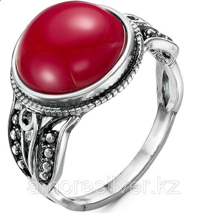 Кольцо Красная пресня , коралл коралл иск., круг 23610910-8 размеры - 18,5