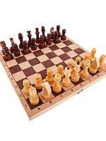 Шахматы. Домино: Шахматы средние лакированные с доской ДВП