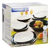 Столовый сервиз Luminarc Carine Black & White (19 предметов)
