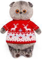 Басик в свитере с оленями 19 см