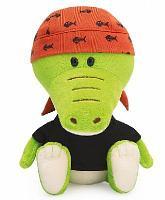 Крокодильчик Кики в черной футболке и бандане мягкая игрушка