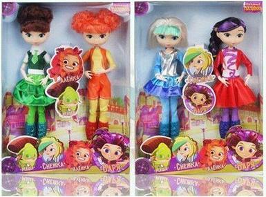 Набор из двух кукол-девочек героев мультфильма «Сказочный патруль» Charm Girls (Снежка и Варя)