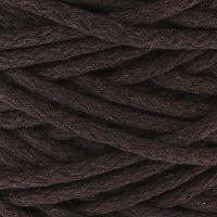Шнур для вязания 100 хлопок, ширина 5 мм 100м/450гр (тёмно-коричневый)
