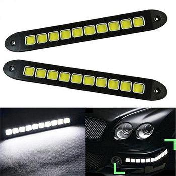 Гибкие светодиодные дневные ходовые огни LED DRL COB 10 больших квадратов
