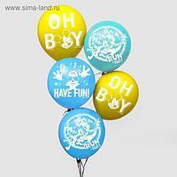 """Воздушные шары """"Микки"""", Микки Маус (набор 5 шт) 12 дюйм"""