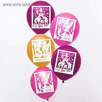 """Воздушные шары """"Минни и Дейзи"""", Минни Маус (набор 5 шт) 12 дюйм"""
