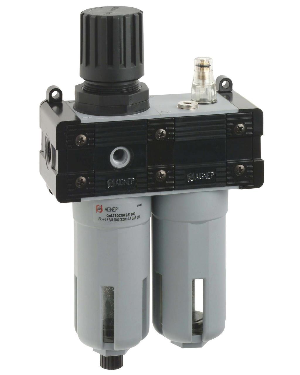 FR+L 2 1/2 Фильтр-лубрикатор, 20 микрон, 1/2, 2500 л/мин без манометра