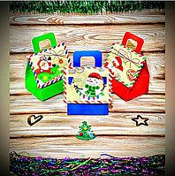 Сундук для конфет БУМАЖНЫЙ маленький Домик (крыша-открытка) С7687 (10*13*12)