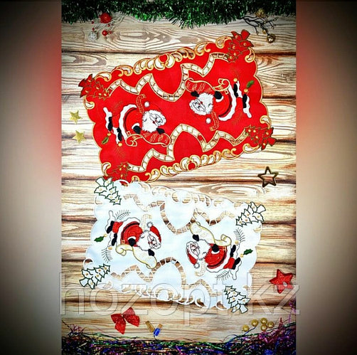 Салфетка новогодняя на стол АЖУРНАЯ, 28*43см,(С7231), 1 штука