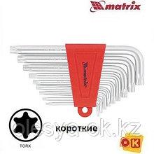 Ключи имбусовые TORX, 9 шт, T10-T50, MATRIX. 12305