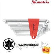 Ключи имбусовые TORX, 9 шт, T10-T50, MATRIX. 12306