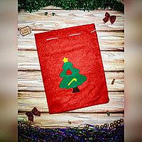 Мешок для подарков из ФЛИСА красный 30*40см (С7232)