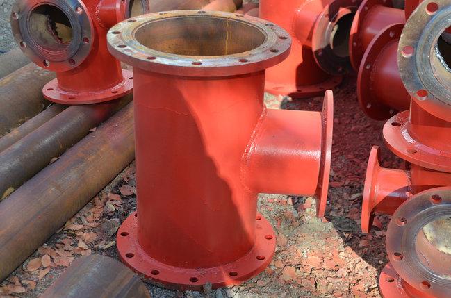 Подставка пожарная ППДФ Ду 100 стальная фланцевая двойная под пожарный гидрант, фото 2