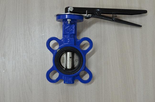 Затвор чугунный поворотный дисковый межфланцевый Ду65 Ру16 (Пр-во КНР), фото 2