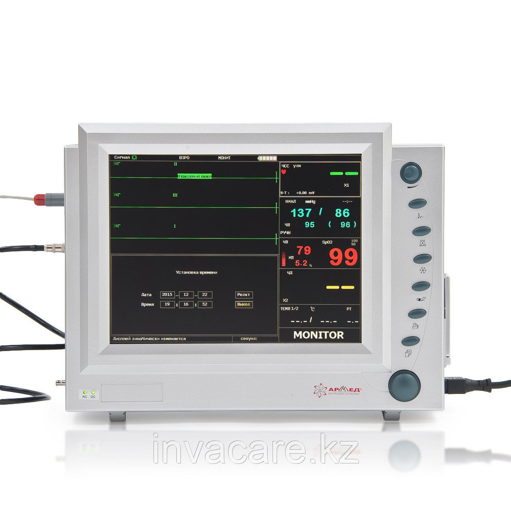 """Монитор прикроватный многофункциональный медицинский """"Armed"""": PC-9000b с приналежностями (Nellcor датчики"""