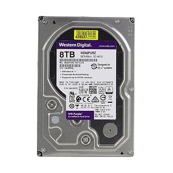 """Накопитель на жестком магнитном диске WD Жесткий диск WD Purple WD82PURZ 8ТБ 3,5"""" 7200RPM 256MB (SATA-III)"""