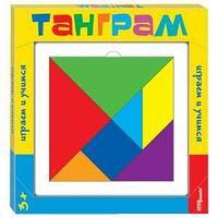 """Игра-головоломка Step Puzzle """"Танграм"""", дерево, 7 цветов, от 3-х лет, картонная коробка"""