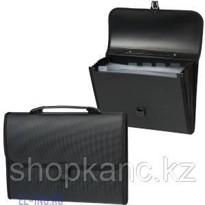 Папка-портфель А4 с защелкой 6 карманов (ассорти)