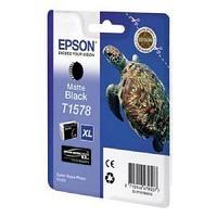 Картридж оригинальный Epson, T1578, матовый чёрный.