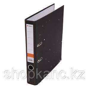 Папка-регистратор, А4, 50 мм, картон, чёрный мрамор .