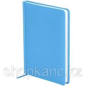 "Ежедневник недатир. A5, 136л., кожзам, OfficeSpace ""Winner"", небесно-голубой"