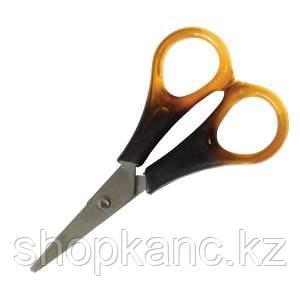 Ножницы 12 cм, ручки под янтарь, ПВХ чехол с европодвесом.