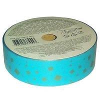 Лента для праздничной упаковки подарков, цвет голубой размер ленты: 2,5 см х 10 м.