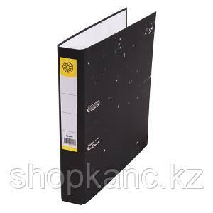 Папка-регистратор, А4, 50 мм, картон, чёрный мрамор.