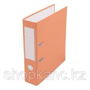 Папка-регистратор, А4, 75 мм, бумвинил/бумага, оранжевый.