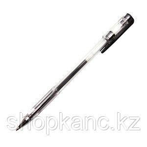 Ручка гелевая, цвет чернил чёрный, 0,5 мм, прозрачный корпус.