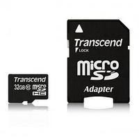 Карта памяти Transcend, 32GB, micro SDHC, class10 U1, SD adapter.