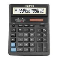 Калькулятор настольный 12 разрядов, SK-777M, 146*197*27 мм, чёрный.