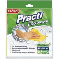 """Салфетка губчатая PACLAN """"PRACTI"""" целлюлоза, 18*18см, 2 шт/упак"""