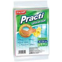 """Салфетка универсальная PACLAN """"PRACTI"""" вискоза, 38*38 см, 3шт/упак"""