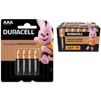 Батарейка Duracell Basic AAA (LR03) алкалиновая, 4BL (увеличенная фасовка)