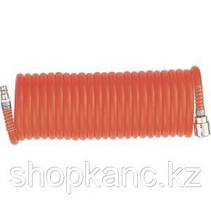Шланг спиральный воздушный 8 х 12 мм, 18 бар, с быстросъемными соединениями, 15 метров STELS