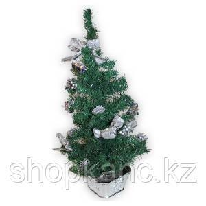 Елка искусственная декорированная, 60см., украшение серебро, зеленая