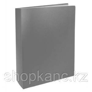 Папка с файлами, 100ф., А4, 0.8мм, BASIC, серый арт.255152-11