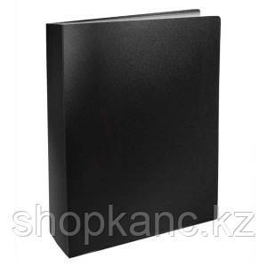 Папка с файлами, 80ф., А4, 0.8мм, BASIC, черный.